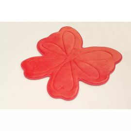 Embossed Butterfly Memory Foam Bath Rugs , Memory Foam Carpet For Kids Cute Pattern Red Color